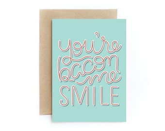 You're Bacon Me Smile Card Pack (2x)