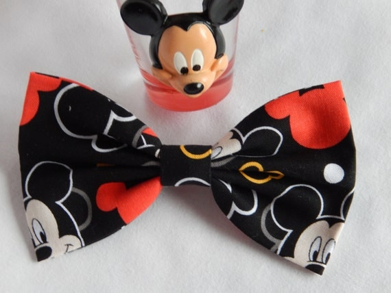 Mickey Mouse Inspired Ears hair bow Handmade Hair Accessory
