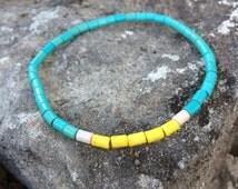 Mens beaded bracelet, howlite bracelet for men, Jewelry for him, Stretch bracelet