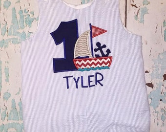 Sailboat with Anchor Birthday Shortall