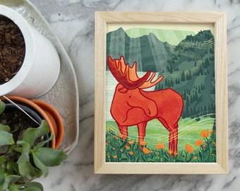 Springtime Moose