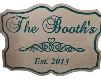 Custom Engraved Wedding Sign