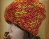 Loom Knit Brimless Hat Easy PATTERN Seed Stitch Beanie