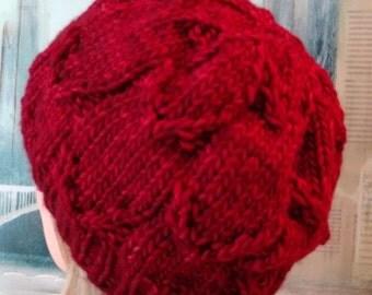 Knitting Pattern, women's hat using chunky yarn, winter hat, 'Amy', womens accessories, beanie hat pattern.