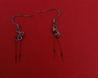 Earrings With Pocket Watch Hands (#12)
