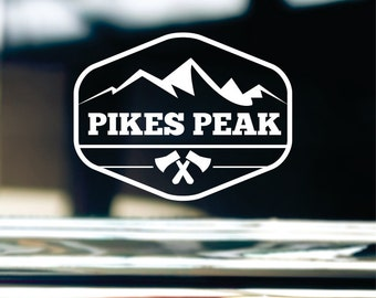 Pikes Peak Decal For Car Window, Bumper, Or Laptop