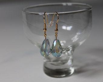 CLEARANCE:  Iridescent Teardrop Earrings