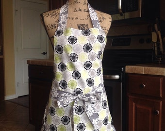 Ruffled Full Apron, made to order