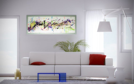 Modern Glass Wall Decor : Extra large wall artabstract glass artmodern by reformationsuk
