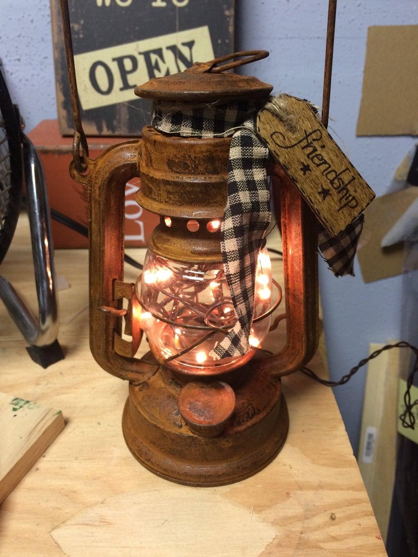 small lantern faith primitive country decor ready to