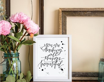 all things beautiful \\ INSTANT DOWNLOAD // Christian Home Decor, All things New, All things Beautiful, Scripture Art