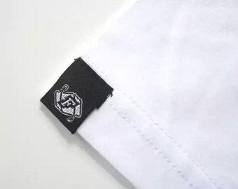 500 hem tags, hem labels, pip woven tag, woven tag, clothing tag, woven label custom, clothing labels