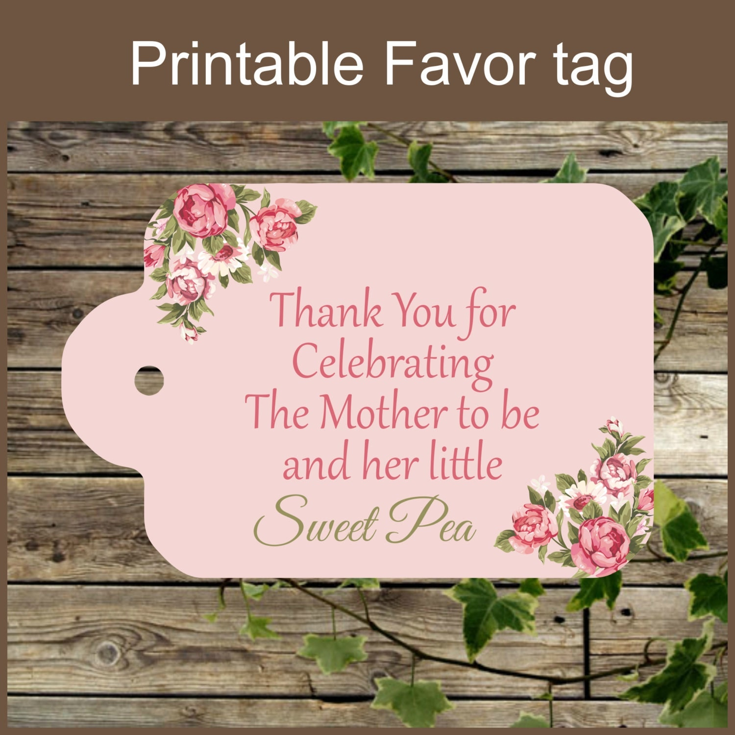 This is a picture of Sizzling Free Printable Baby Shower Gift Tags
