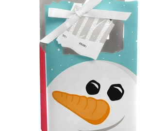 Let It Snow - Snowman - Favor Boxes - Custom Holiday Party Supplies - Set of 12