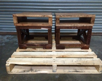 Reclaimed Wood Night Stands / Side Tables