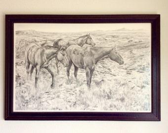 "A.P. A fine art reproduction ""Desperado"" by Forrest Kvistad"