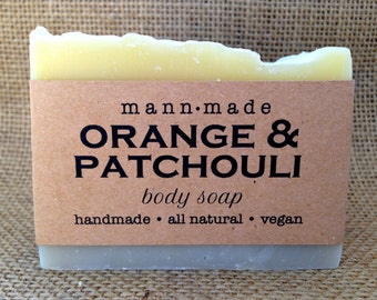 Orange & Patchouli Soap, All Natural, Vegan, made with Essential Oils and Natural Brazilian Clay