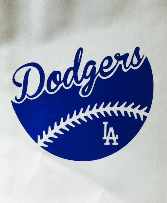 la dodgers baseball vinyl decal car window bumper sticker