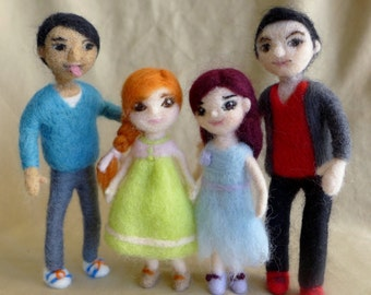 Needle felted Dolls handmade OOAK wool sculpture( Each sold individually)