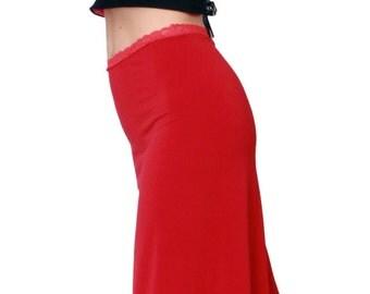 Red Basic Pasion Tango Skirt