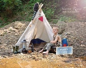 Tee pee photo prop - NO POLES ***Canvas only***