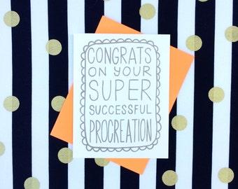 Successful Procreation Card.