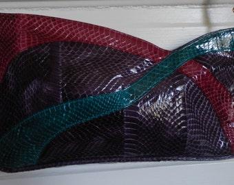 1980's Purple Snakeskin Shoulder Bag!