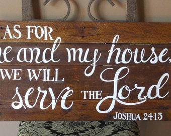As for me and my house Wooden Sign