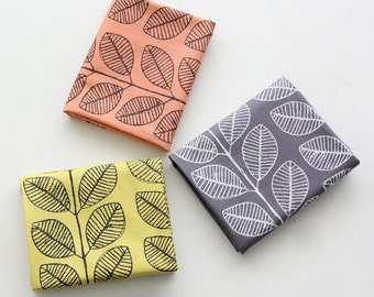Simple Leaves Pattern 20s Cotton Oxford Fabric by Yard - 3 Colors Selection