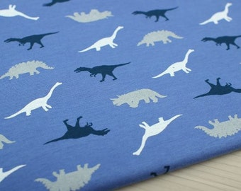 Dinosaurs Cotton Knit Fabric by Yard -AS01