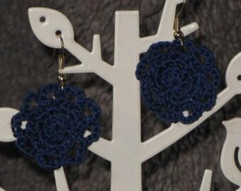 Crocheted Doily Earrings