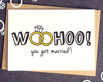 Wedding Card Funny - Funny Wedding Card - Wedding Day Cards - Congrats Wedding Card - Gay Wedding Cards - Wedding Congratulations Card
