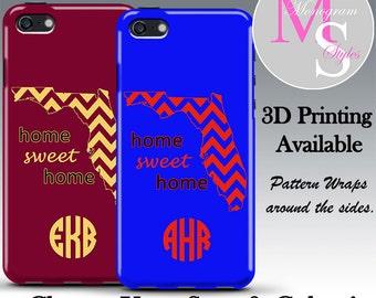 Monogram iPhone 6 Personalized Case State/School Pride Monogrammed iPhone 6 Plus Personalized Iphone 4, 4S, Iphone 5 5C 5S Tough Case #2573