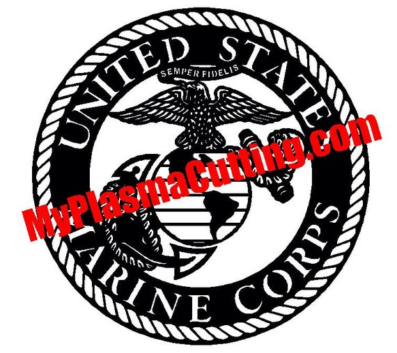 Usmc Marines Logo Dxf File For Cnc Plasma Cutting From