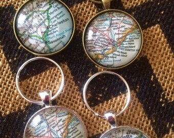 Map Key Ring