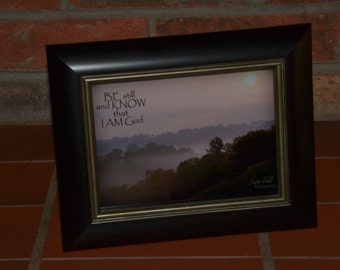 Kentucky Scenery Photo Note Card, KJV Verse, 5 x 7 framed, Be still and know that I am God