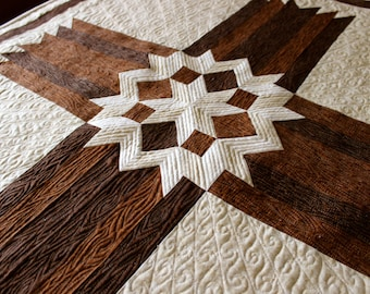 Cross Quilt - Carpenters' Star Cross - Queen / King size