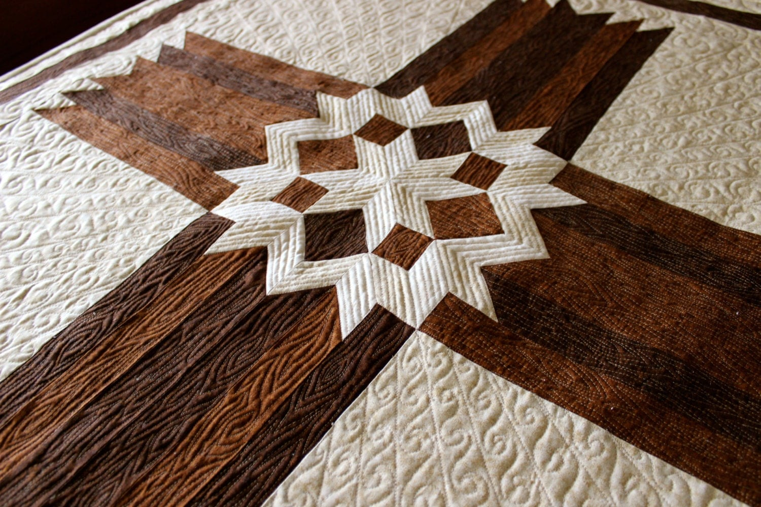 Cross Quilt Carpenters Star Cross Queen King Size