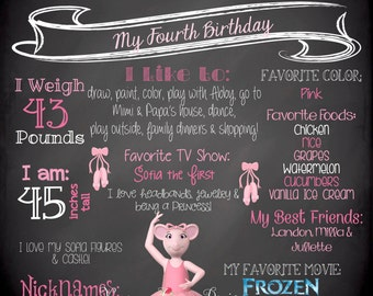 Angelina Ballerina Birthday Sign
