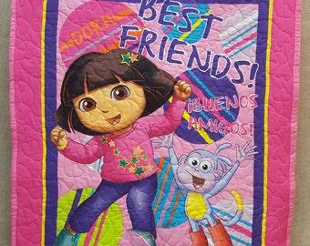 Dora the Explorer Quilt Toddler Baby Blanket FREE SHIPPING!
