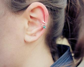 Pierced silvering Ear Cuff