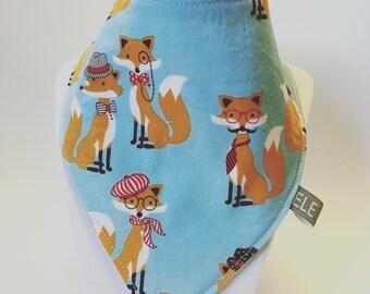 Stylish Foxes / baby bib / drool bib / bibdana / ready to ship