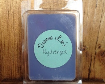 Hydrangea soy wax melts, hydrangea wax tarts, floral wax melts, hydrangea candle melts, flameless candle, wax melts, wax tarts, soy melts