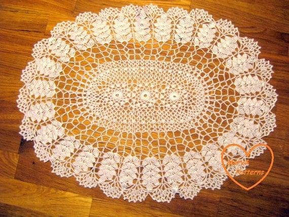 Pdf crochet pattern doily home decor vintage crochet - Crochet mural vintage ...