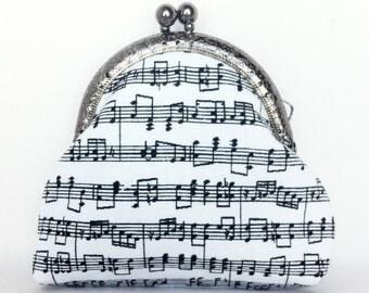 coin purse change purse credit card purse sheet music musical notes 025
