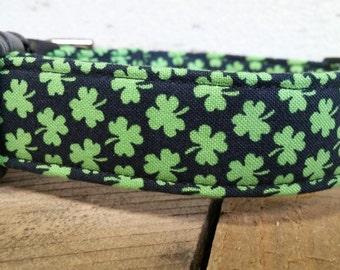 St. Patrick's Day dog collar, St. Patty's dog collar, shamrock dog collar, Martingale dog collar, dog collar and leash,dog gifts, martingale