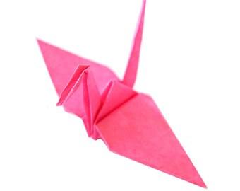 Hot Pink 1000 Origami Paper Cranes, Japanese Wedding Decoration, Origami Birds, Origami Paper Crane, Thousand Cranes, Senbazuru
