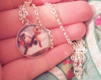 Disney grumpy cat necklace