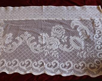Nottingham lace valances