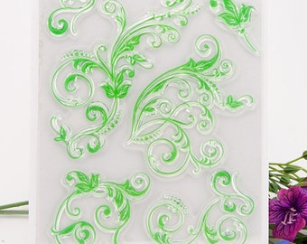 SALE! Clear Stamp Set - Artistic Flourish Designs Ideal as Border Designs